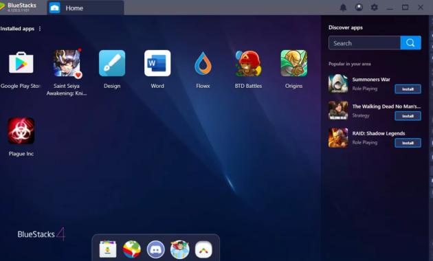 Cara Main Game Android Di PC - contoh aplikasi yang sudah terinstall di bluestacks